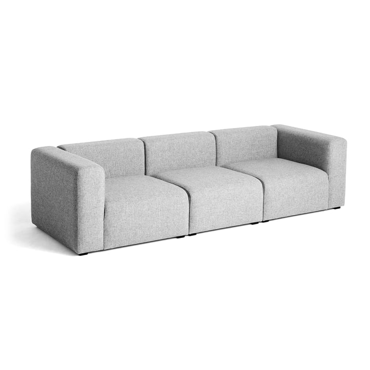 Hay – Mags sofa, 3-personers, lysegrå