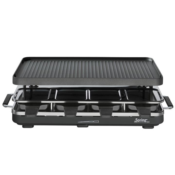 Spring – raclette 8 med alu-grill-overflade
