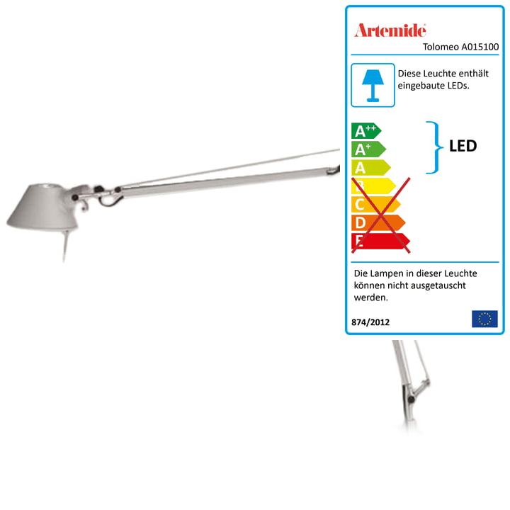 Artemide – Tolomeo Midi LED, hoveddel i aluminium