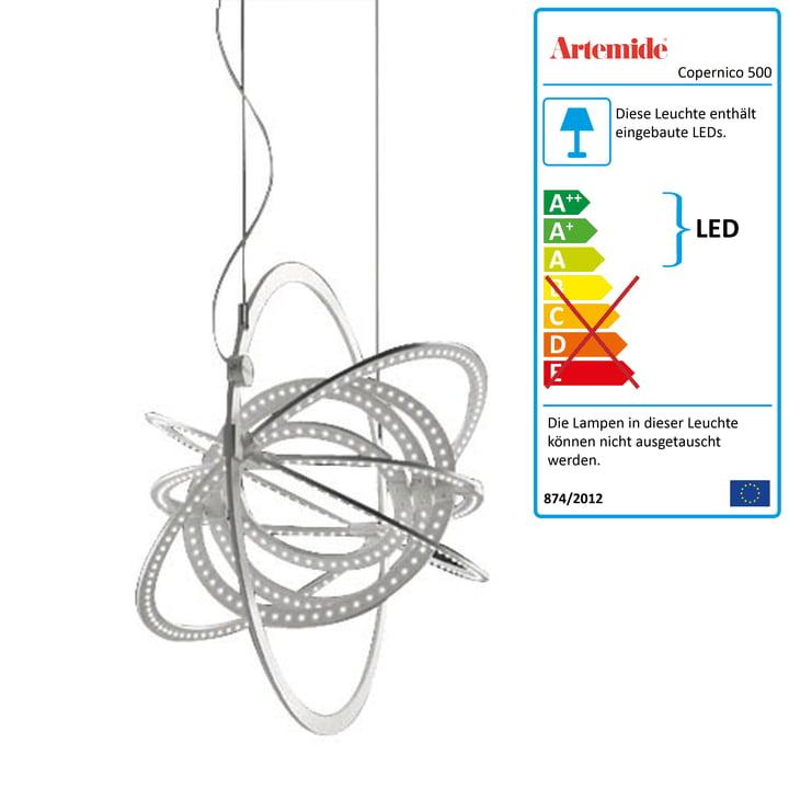 Artemide – Copernico 500 LED-pendel, hvid