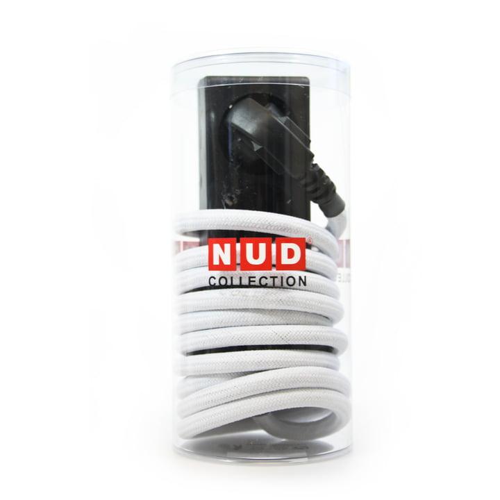 NUD Collection – forlængerledning med tre udtag, hvid (01-TT)