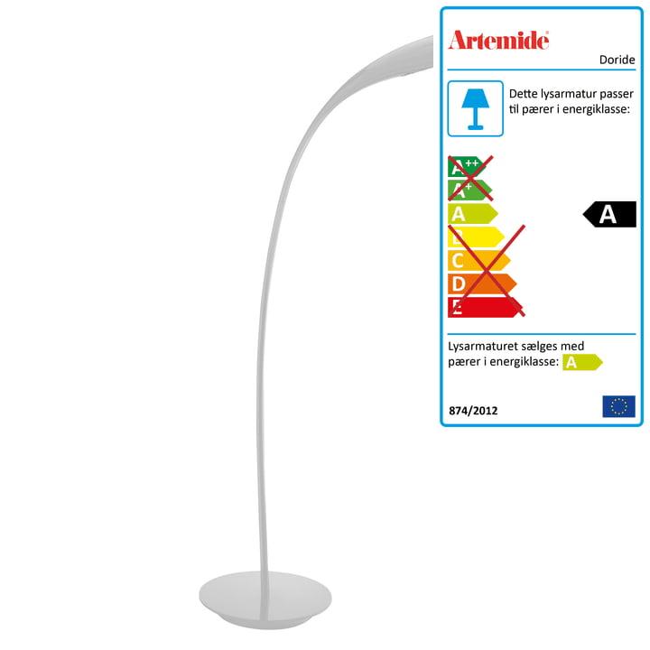 Artemide – Doride gulvlampe, hvid
