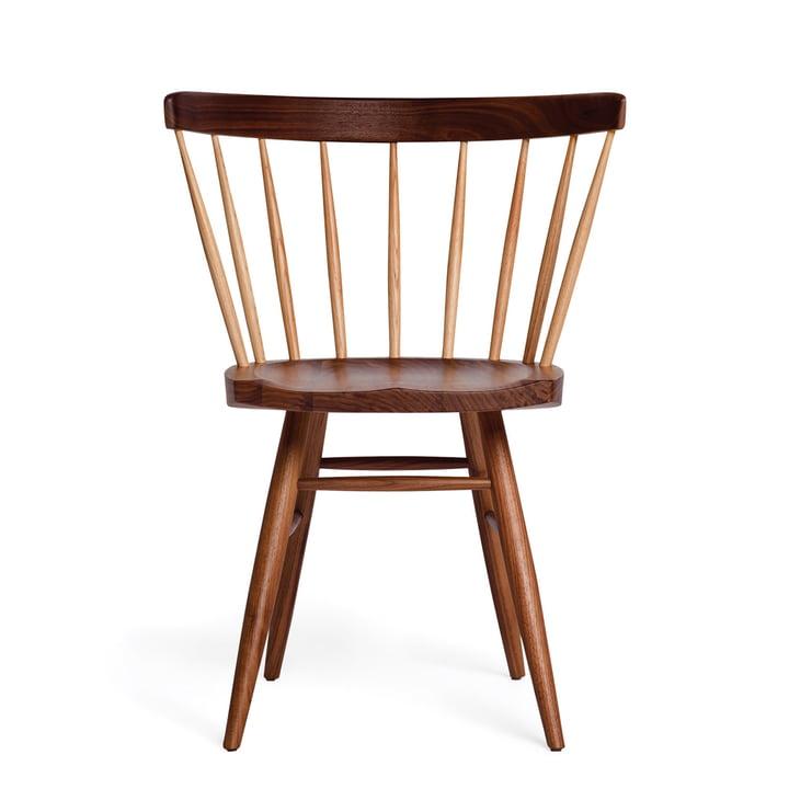 Knoll – Straight Chair, valnøddetræ