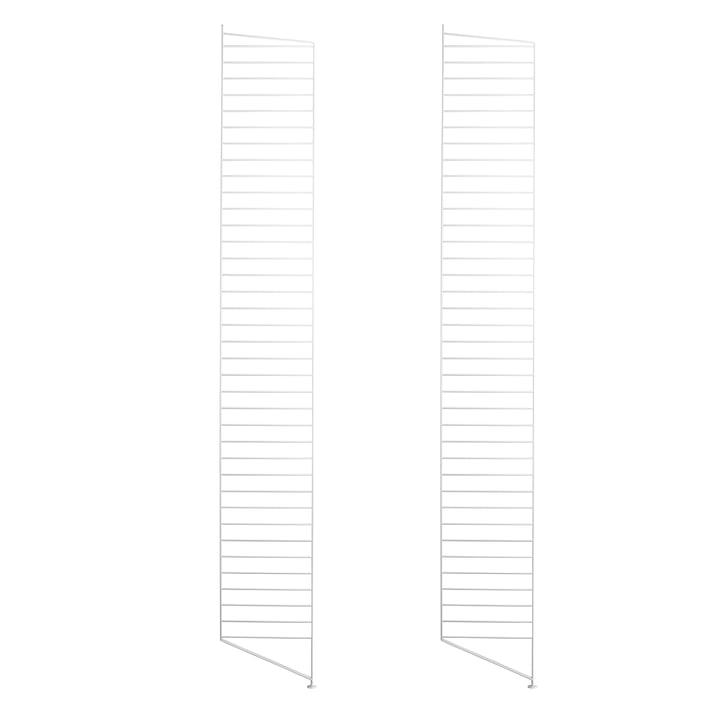 Gulv gavler til String reol 200 x 30 cm (sæt med 2 stk.) fra String i hvid