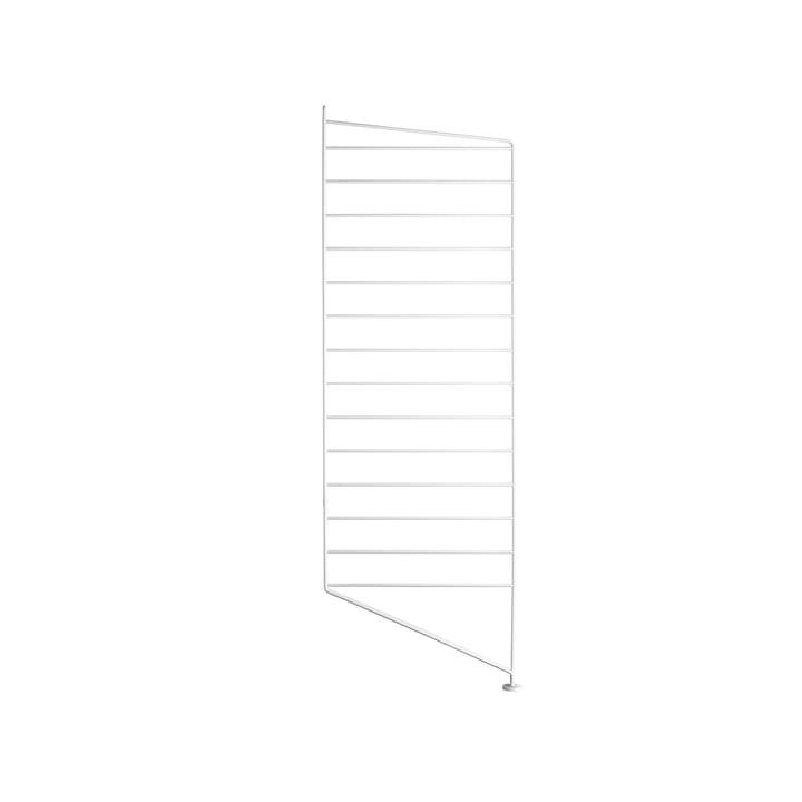 Gulv gavl til String reol 85 x 30 cm fra String i hvid