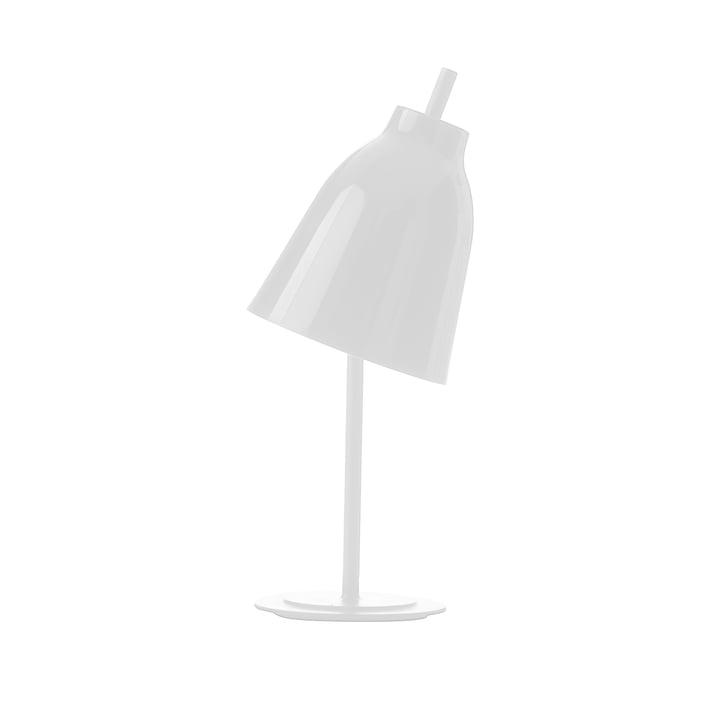 Caravaggio bordlampe fra Fritz Hansen i skinnende hvid