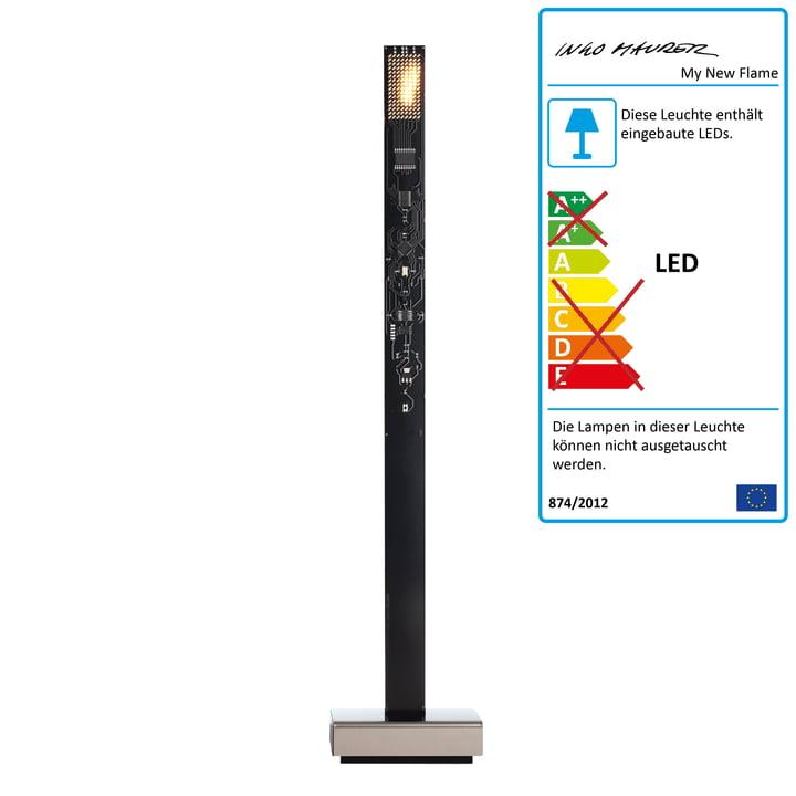 Ingo Maurer – My New Flame LED-bordlampe, sort