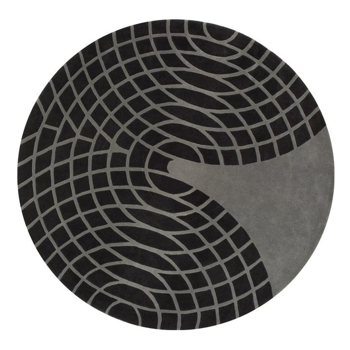 VerPan – Panton tæppe, Ø 220 cm, mørkegrå/lysegrå
