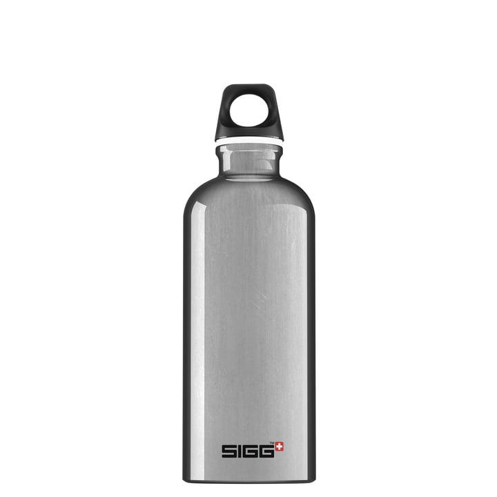Traveler drikkerflaske 0,6 l fra Sigg i aluminiumsølv