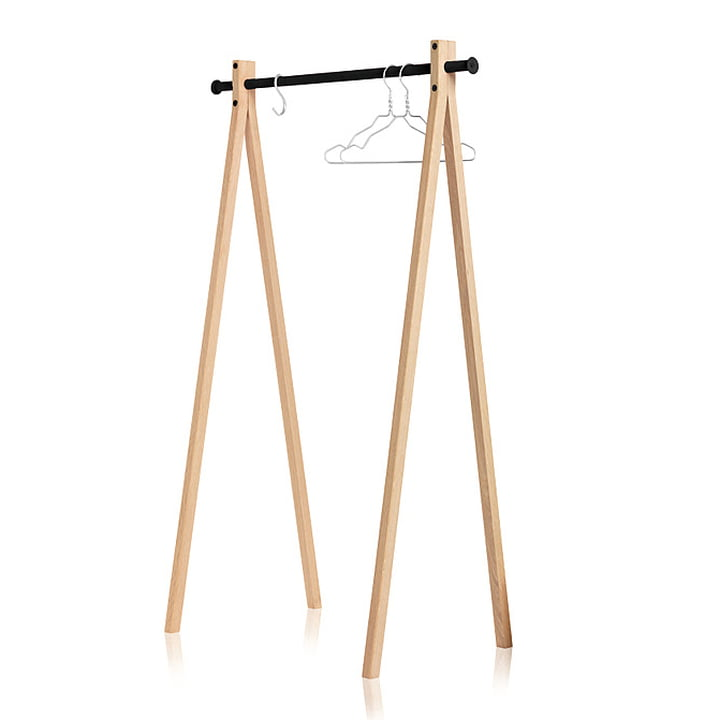 Nomess – Dress-Up tøjstativ, asketræ, sort, 90 cm