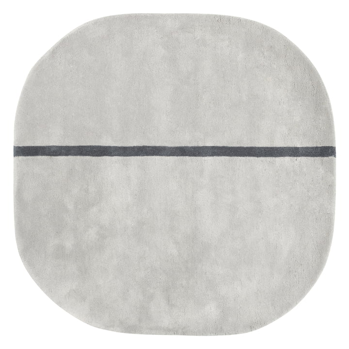 Normann Copenhagen – Oona gulvtæppe, 140 x 140 cm, grå