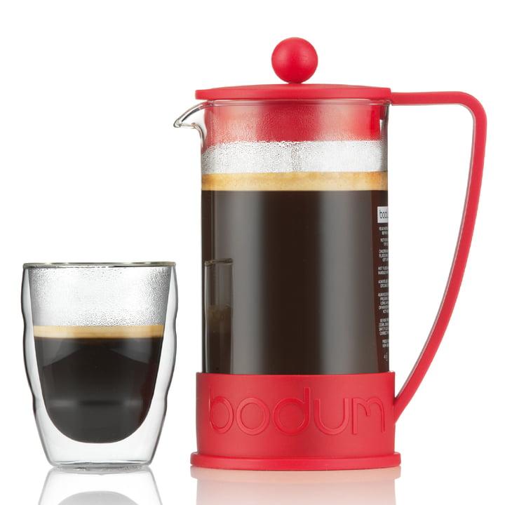 Bodum – Brazil kaffebrygger, 1,0 l, rød – med glas