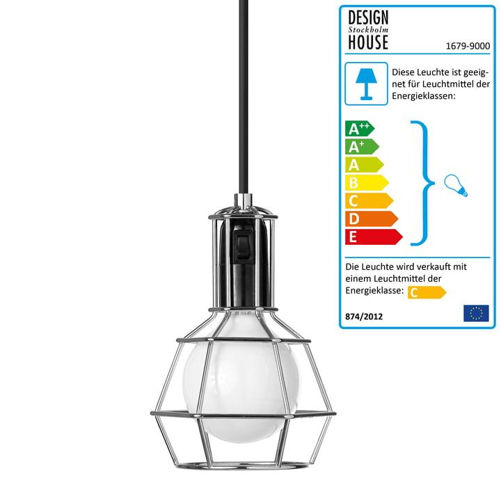 Design House Stockholm – Work Lamp, sølv