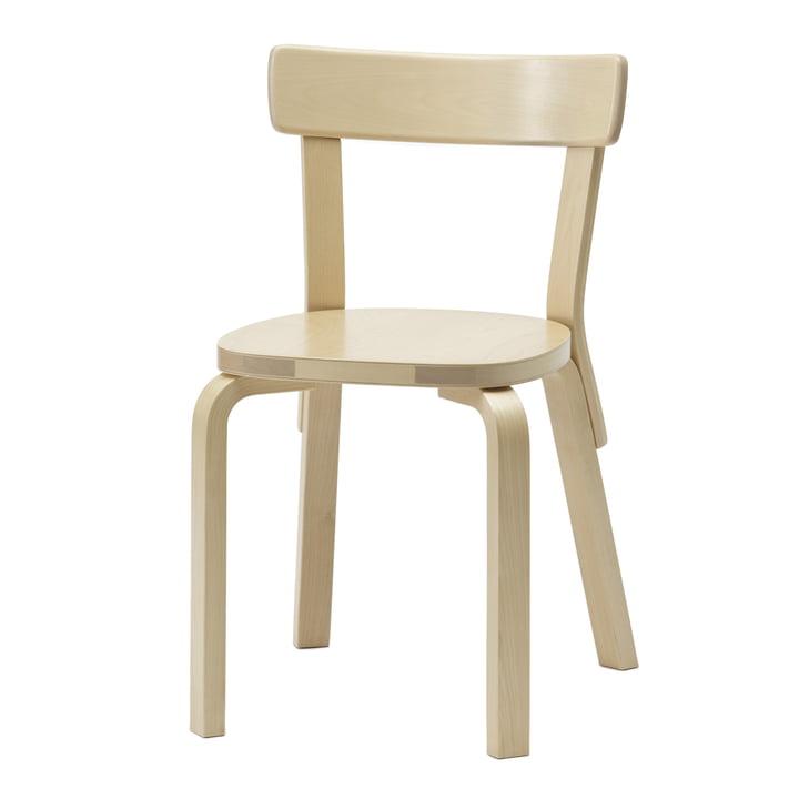 Artek – stol 69, birk, uden pude