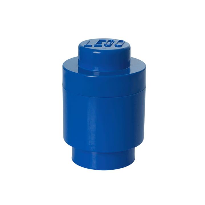 LEGO – opbevaringsklods 1, rund, blå