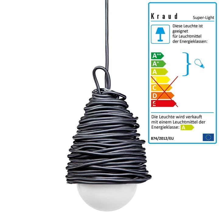 Kraud – Super-Light Classic lampe, mørkegrå
