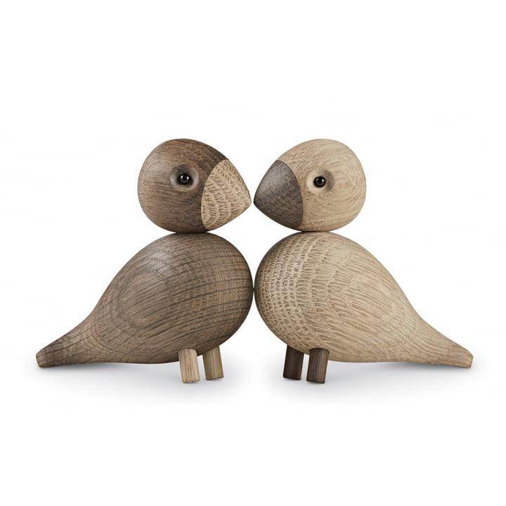 Kay Bojesen – turtelduer sæt med 2, træfugle