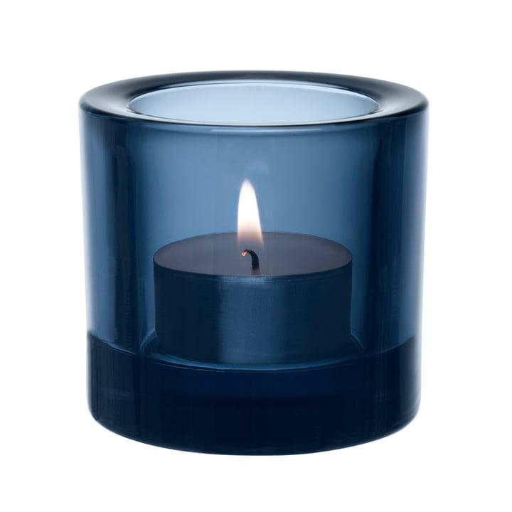 Iittala – Kivi fyrfadsstage, regnblå