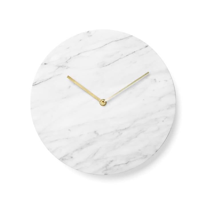 Menu – Marble vægur, hvid