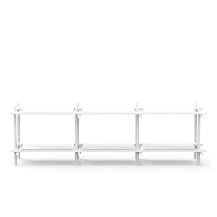 Menu – Stick reolsystem, hylde, hvid/hvid, 3 x 2
