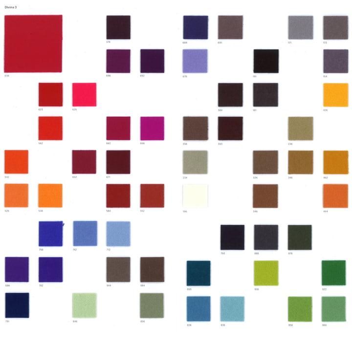Kvadrat – Divina 3 tekstilprøve