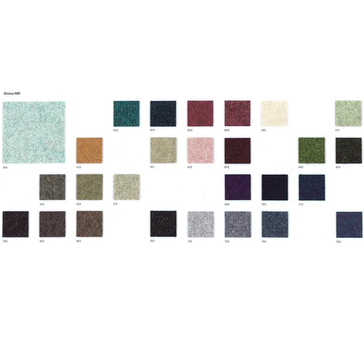 Kvadrat – Divina MD tekstilprøve