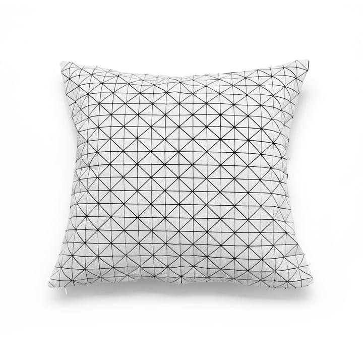 Mika Barr – Geo Origami pudebetræk 50 x 50 cm, sort/hvid