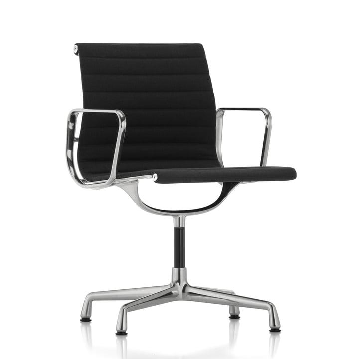 EA 103 kontorstol poleret / Hopsack nero, filtpuder (til hårde gulve) fra Vitra