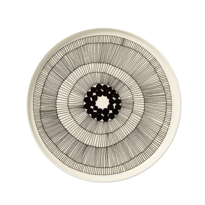 Marimekko – Siirtolapuutarha tallerken, hvid/sort