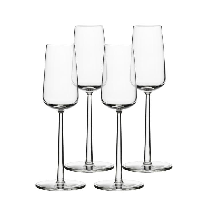 Essens champagne glas 21 cl (sæt af 4) fra Iittala
