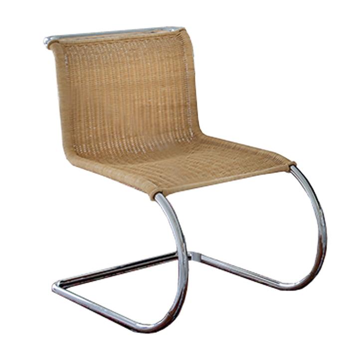 Knoll – MR sidestol, uden armlæn, rattansæde