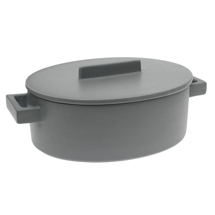 Sambonet – Terra.Cotto oval kasserolle, 16 cm, peber