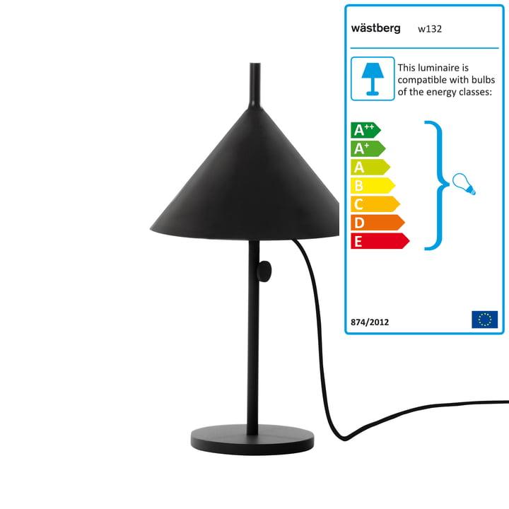 Wästberg – Nendo bordlampe Cone w132t1, sort