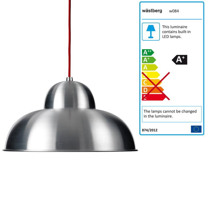 Wästberg – Studioilse pendel w084s, rød ledning