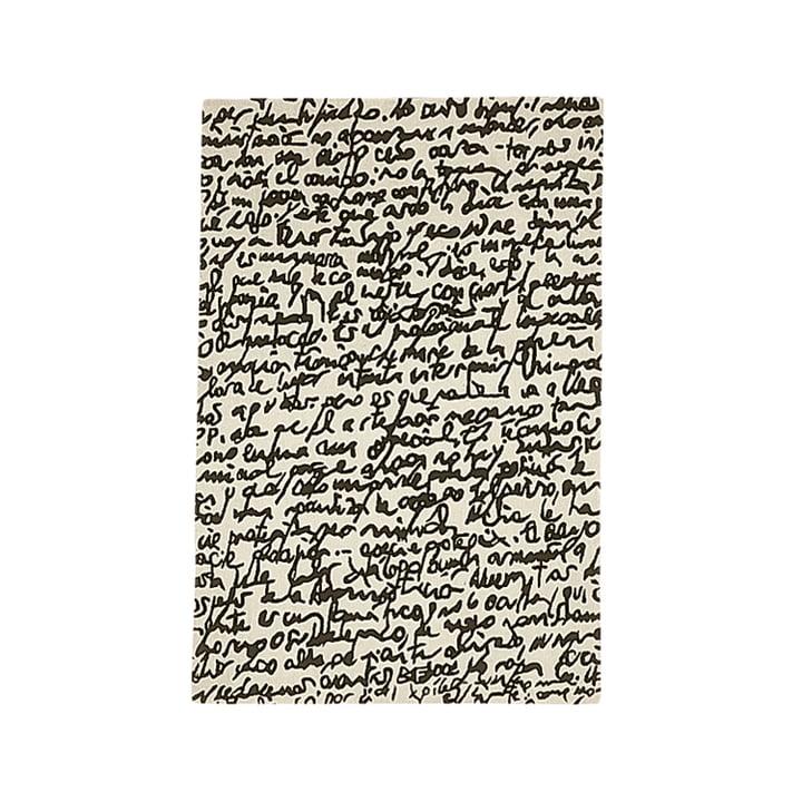 "nanimarquina ─ Black on white tæppe ""Manuscrit"" 170x240 cm"