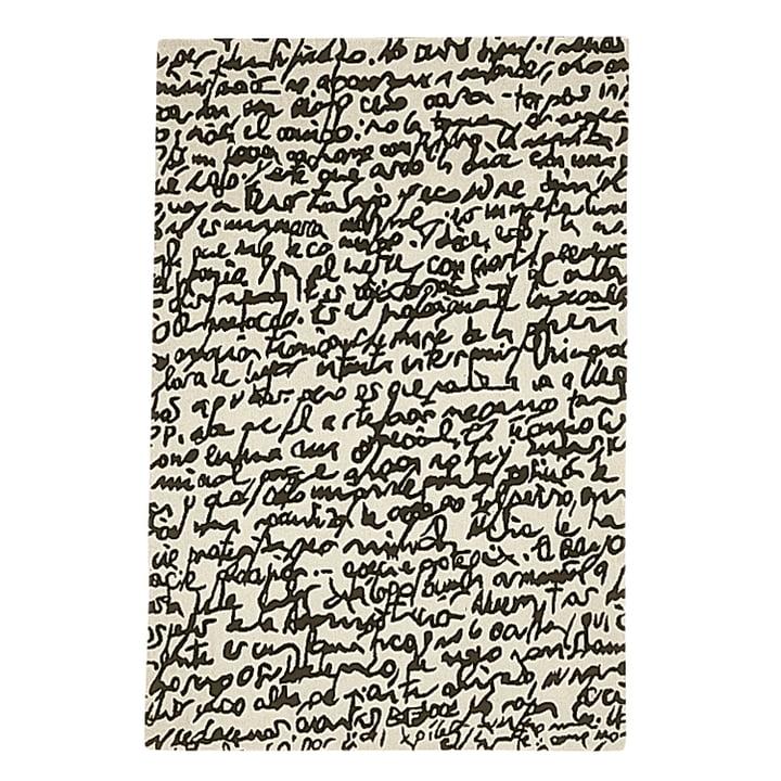 "nanimarquina ─ Black on white tæppe ""Manuscrit"" 200x300 cm"