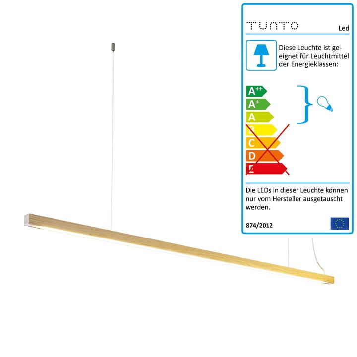 LED 28 pendel fra Tunto i ubehandlet eg