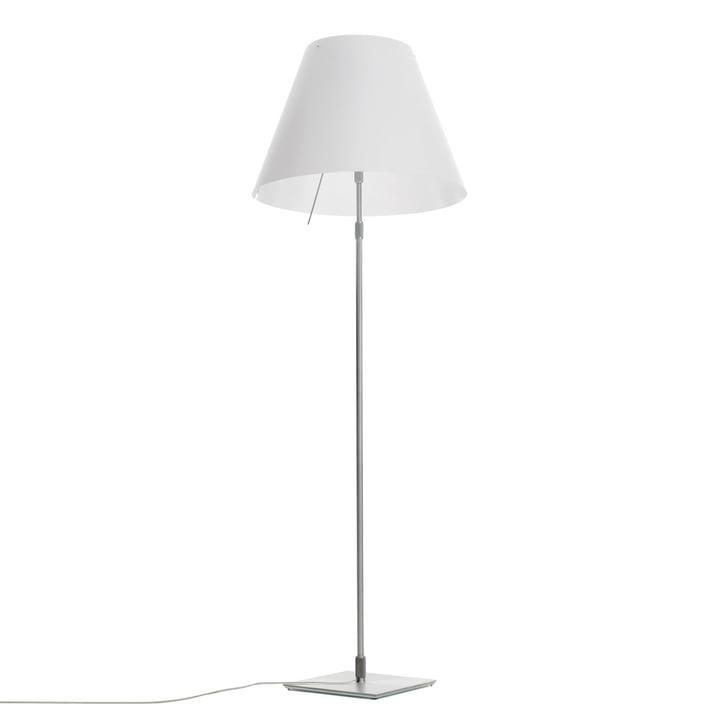 Grande Costanza gulvlampe D13 G. t. fra Luceplan fremstillet af aluminium i hvid