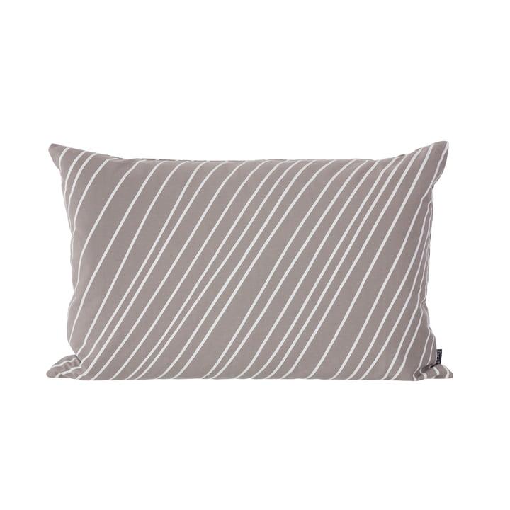 Striped Cushion fra ferm LIVING i grå og hvid