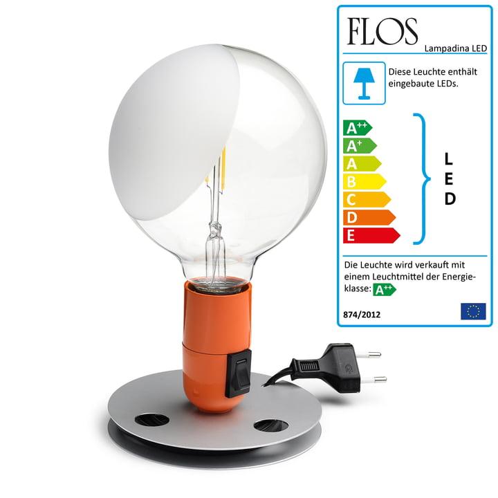 Flos – Lampadina LED, orange
