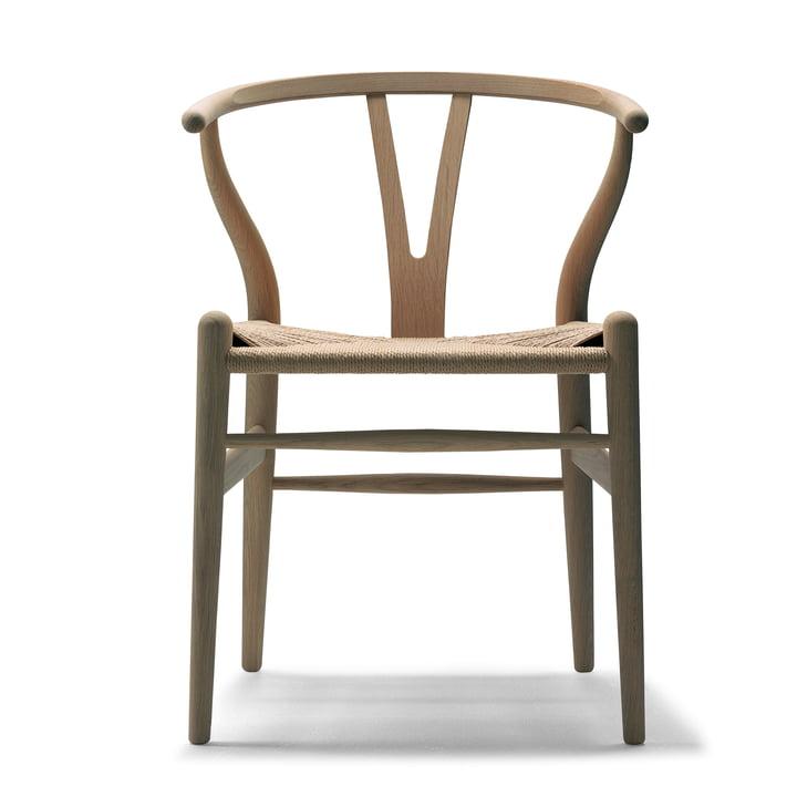 CH24 Wishbone Chair af Carl Hansen i olieret eg / naturlig væv