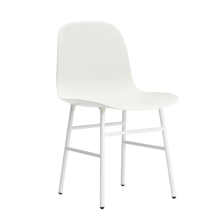 Normann Copenhagen – Form stol, stålben, hvid