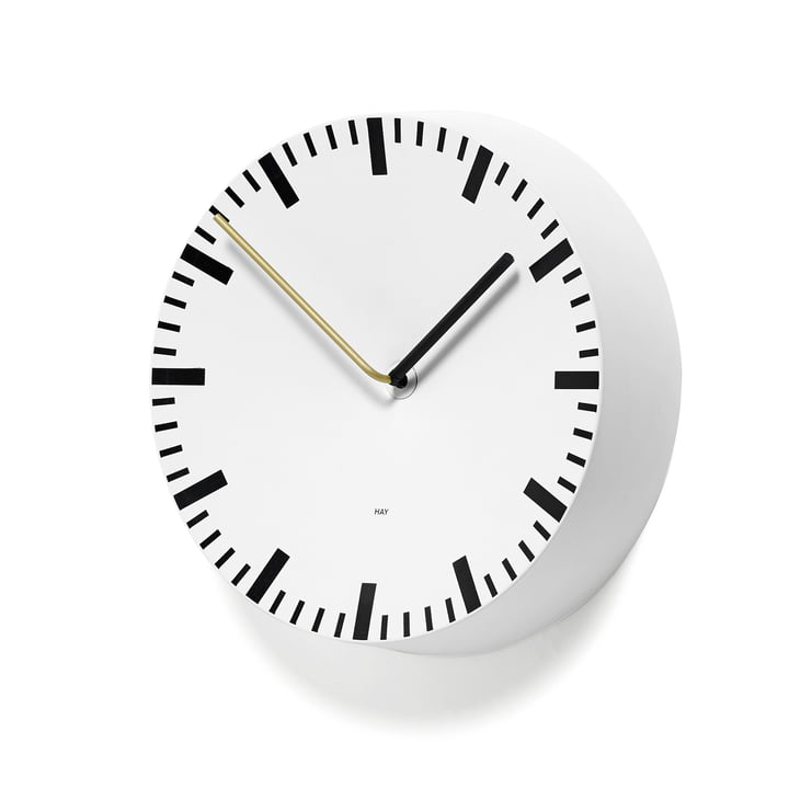 Hay – Analog ur, hvid