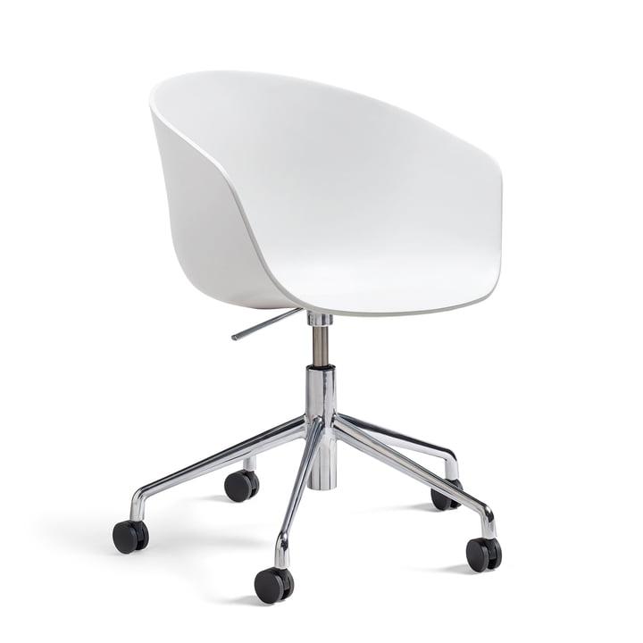 Hay - About A Chair AAC 52 med gasløft, poleret / hvid
