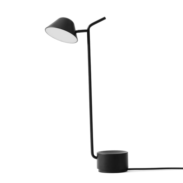 Peek bordlampe ved Menu i sort