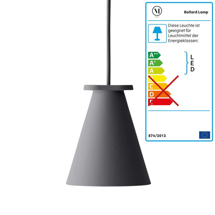 Menu – Bollard lampe, koksgrå