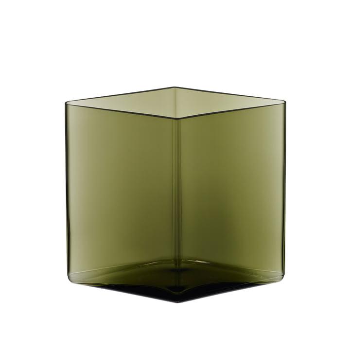 Iittala – Ruutu vase 205 x 180 mm, mosgrøn
