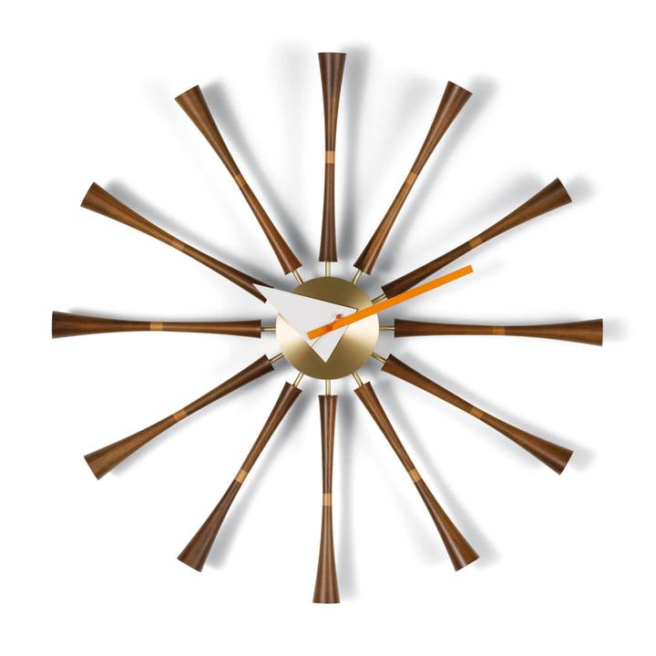 Vitra – Spindle Clock, aluminium/valnød