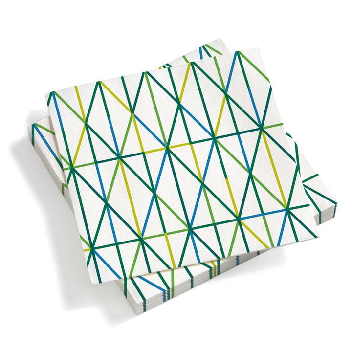 Vitra – Papirservietter store, Grid, grøn