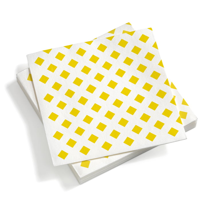 Vitra – servietter, store, La Fonda Checks gul